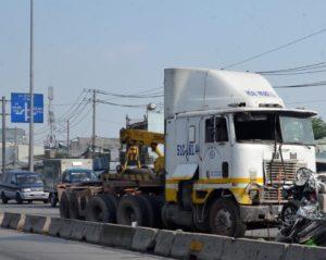 Lái xe container gây tai nạn thì bị xử lý như thế nào