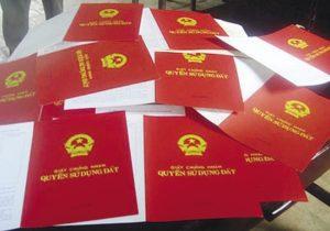 Thủ tục, thuế, phí, biểu giá sang tên sổ đỏ
